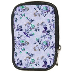 Vintage Roses Purple Compact Camera Leather Case