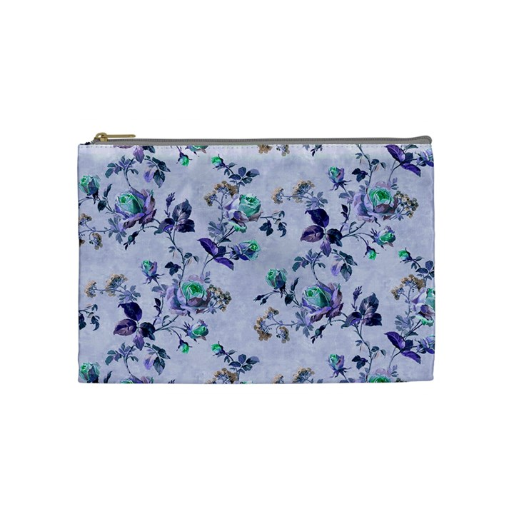 Vintage Roses Purple Cosmetic Bag (Medium)