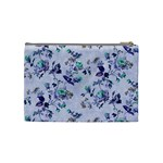Vintage Roses Purple Cosmetic Bag (Medium) Back