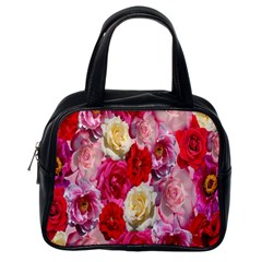 Bed Of Roses Classic Handbag (one Side)