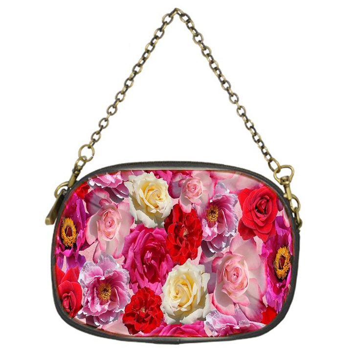 Bed Of Roses Chain Purse (One Side)