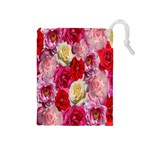 Bed Of Roses Drawstring Pouch (Medium) Front