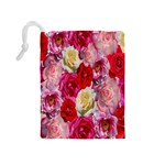 Bed Of Roses Drawstring Pouch (Medium) Back