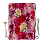 Bed Of Roses Drawstring Bag (Large) Front