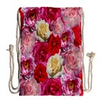 Bed Of Roses Drawstring Bag (Large) Back