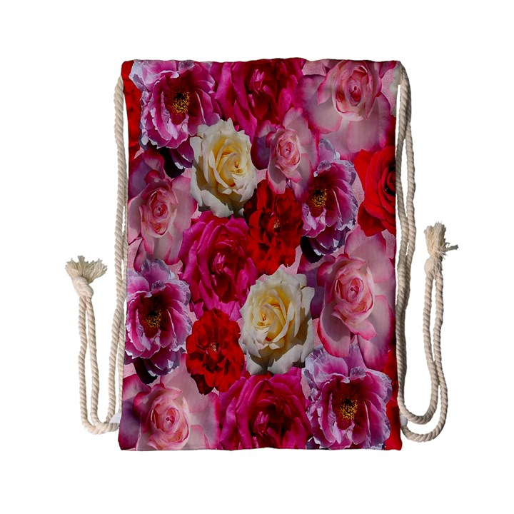 Bed Of Roses Drawstring Bag (Small)