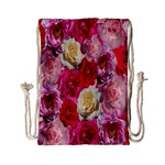 Bed Of Roses Drawstring Bag (Small) Back