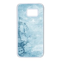 Sail Away   Vintage   Samsung Galaxy S7 White Seamless Case by WensdaiAddamns