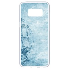 Sail Away   Vintage   Samsung Galaxy S8 White Seamless Case by WensdaiAddamns