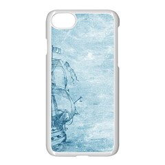 Sail Away   Vintage   Apple Iphone 8 Seamless Case (white) by WensdaiAddamns