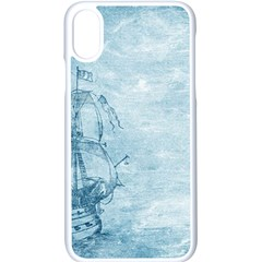 Sail Away   Vintage   Apple Iphone X Seamless Case (white) by WensdaiAddamns