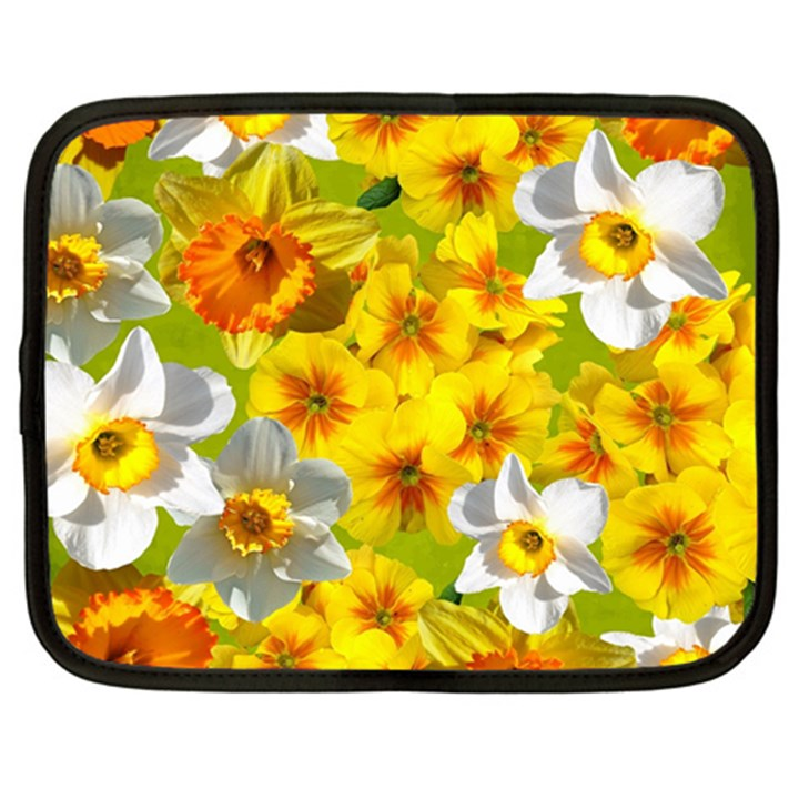 Daffodil Surprise Netbook Case (Large)