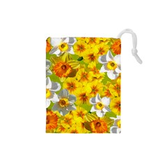 Daffodil Surprise Drawstring Pouch (small)