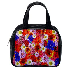 Multicolored Daisies Classic Handbag (one Side)
