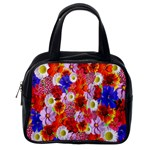 Multicolored Daisies Classic Handbag (One Side) Front