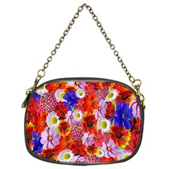 Multicolored Daisies Chain Purse (one Side)