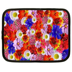 Multicolored Daisies Netbook Case (xl)