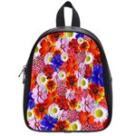 Multicolored Daisies School Bag (Small) Front