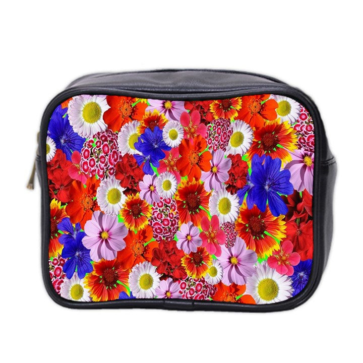 Multicolored Daisies Mini Toiletries Bag (Two Sides)