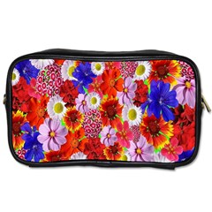 Multicolored Daisies Toiletries Bag (two Sides)