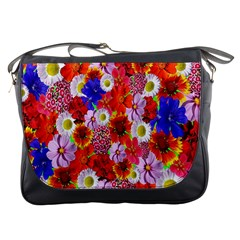 Multicolored Daisies Messenger Bag