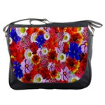 Multicolored Daisies Messenger Bag Front