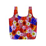 Multicolored Daisies Full Print Recycle Bag (S) Back