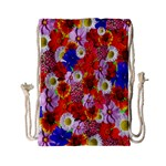 Multicolored Daisies Drawstring Bag (Small) Front