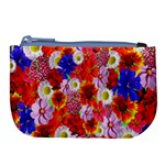 Multicolored Daisies Large Coin Purse Front