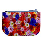 Multicolored Daisies Large Coin Purse Back