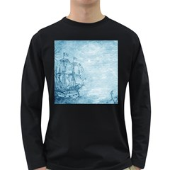 Sail Away   Vintage   Long Sleeve Dark T Shirt by WensdaiAddamns