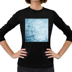 Sail Away   Vintage   Women s Long Sleeve Dark T Shirt