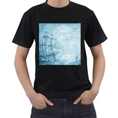 Sail Away   Vintage   Men s T Shirt (black)