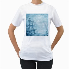 Sail Away   Vintage   Women s T Shirt (white)  by WensdaiAddamns