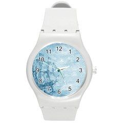 Sail Away   Vintage   Round Plastic Sport Watch (m)