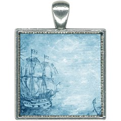Sail Away   Vintage   Square Necklace by WensdaiAddamns