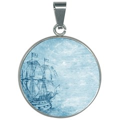 Sail Away   Vintage   30mm Round Necklace by WensdaiAddamns