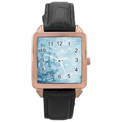 Sail Away   Vintage   Rose Gold Leather Watch  by WensdaiAddamns