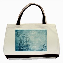 Sail Away   Vintage   Basic Tote Bag (two Sides) by WensdaiAddamns