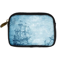 Sail Away   Vintage   Digital Camera Leather Case by WensdaiAddamns