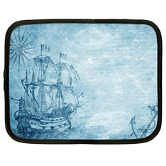Sail Away   Vintage   Netbook Case (xxl) by WensdaiAddamns