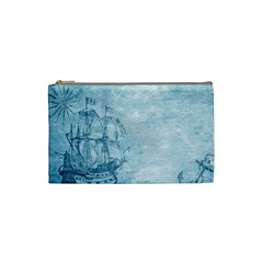 Sail Away   Vintage   Cosmetic Bag (small) by WensdaiAddamns