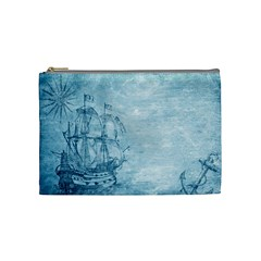 Sail Away   Vintage   Cosmetic Bag (medium) by WensdaiAddamns