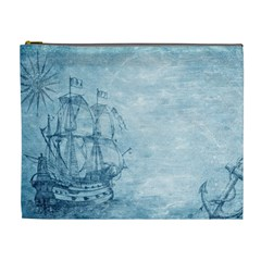 Sail Away   Vintage   Cosmetic Bag (xl) by WensdaiAddamns