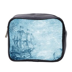 Sail Away   Vintage   Mini Toiletries Bag (two Sides) by WensdaiAddamns