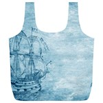 Sail Away - Vintage - Full Print Recycle Bag (XL) Front
