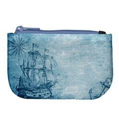 Sail Away   Vintage   Large Coin Purse by WensdaiAddamns