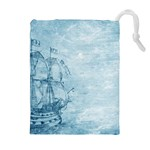 Sail Away - Vintage - Drawstring Pouch (XL) Front