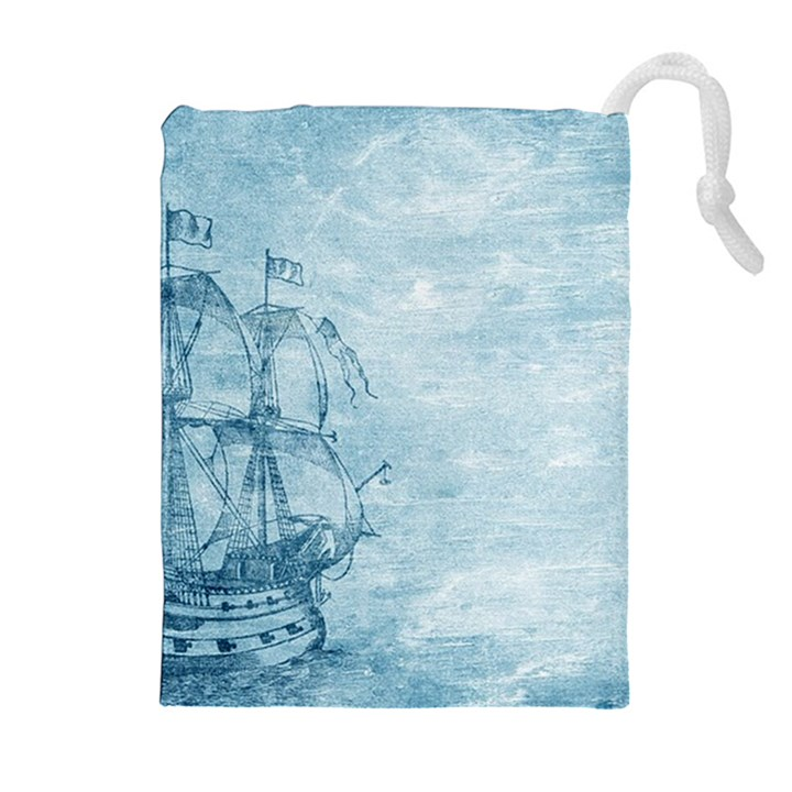 Sail Away - Vintage - Drawstring Pouch (XL)