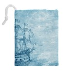 Sail Away - Vintage - Drawstring Pouch (XL) Back